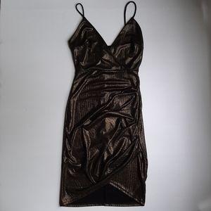 Fashion Nova Gold Mini Dress